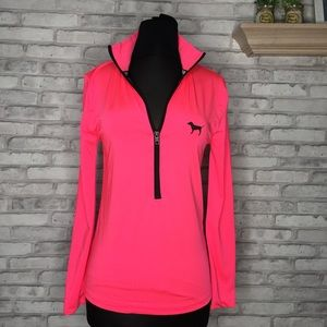 Cute PINK Hot Pink Half-Zip Pullover Size …
